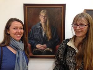 Sonja Rivett-Carnac at Portrait 100 Exhibition